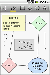 Diagram editor for Android